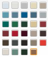 Sample Roofing colors swatch